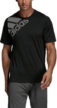 ADIDAS FreeLift Badge of Sport Graphic shirt Heren Zwart