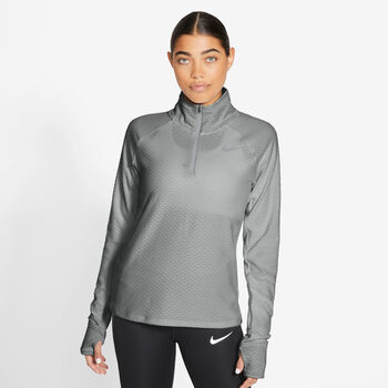 Nike Sphere 1/2-Zip hardlooptop Dames Grijs