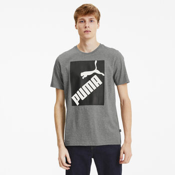 Puma Big Logo shirt Heren Grijs