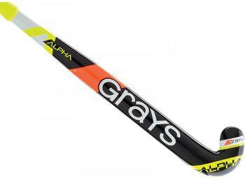 Grays Alpha Ultrabow jr zaalhockeystick Jongens Zwart