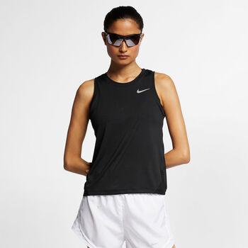Nike Miler top Dames Zwart