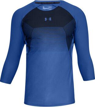 Under Armour Threadborne Vanish 3/4 shirt Heren Blauw