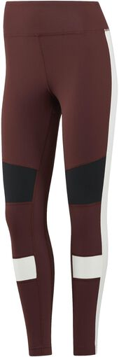Reebok - Lux Color Block tight - Dames - Kleding - Bruin - M