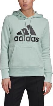 adidas Badge of Sport Pullover Fleece Hoodie Dames Groen