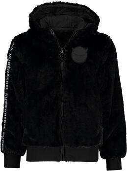 SUPERREBEL Fur hoodie Meisjes Zwart