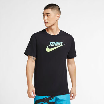 Nike Court Graphic t-shirt Heren Wit