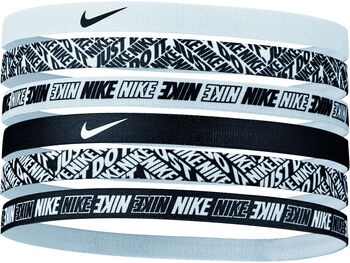 Nike Printed haarbandjes (6 paar) Wit