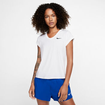 Nike Court Dry shirt Dames Wit