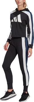 adidas Sportswear Badge of Sport Logo Trainingspak Dames Zwart