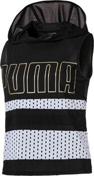 Puma Varsity SL Cover Up sweater Dames Zwart