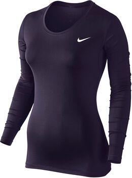 Nike Pro longsleeve Dames Paars