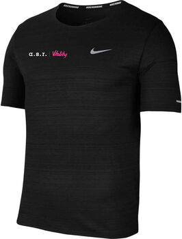 Nike a.s.r. Vitality Dri-FIT Miler shirt Heren Zwart