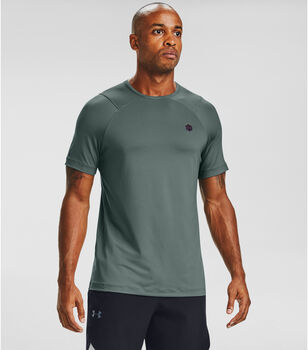 Under Armour RUSH™ HeatGear® Fitted t-shirt Heren Blauw