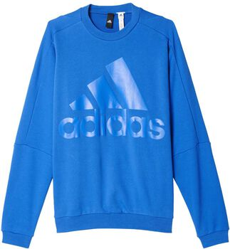 ADIDAS HVY Terry Crew sweater Heren Blauw