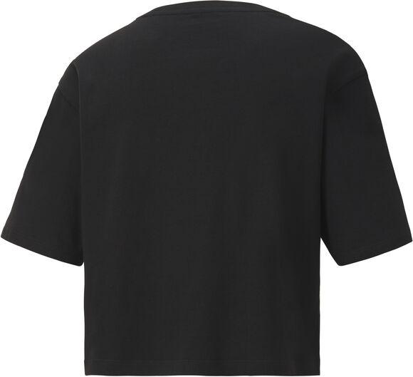 Essential Metallic Cropped shirt