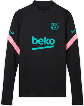 Nike FC Barcelona Strike Drill top Heren Zwart