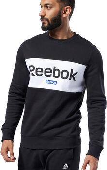 Reebok Big Logo Crew sweater Heren Zwart