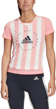 ADIDAS Slim Graphic shirt Dames Roze