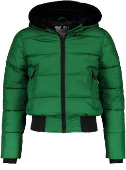 SUPERREBEL Sustainable Basic Shiny kids ski-jas Meisjes Groen