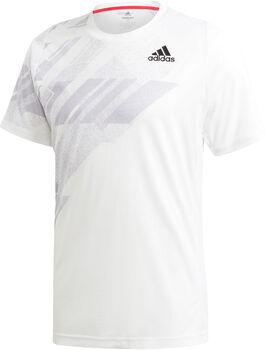 adidas Freelift Printed HEAT.RDY tennisshirt Heren Wit