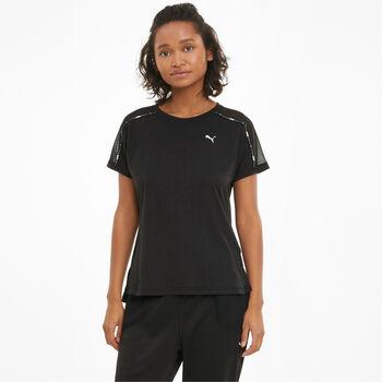 Puma Train Logo Boyfriend t-shirt Dames Zwart