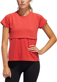 ADIDAS 3-Stripes shirt Dames Rood