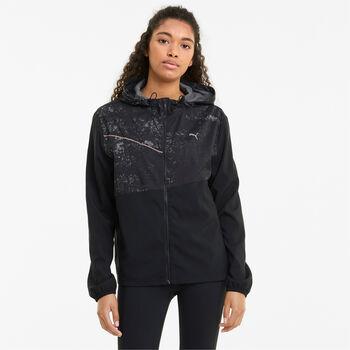Puma Run Graphic Hooded jas Dames Zwart