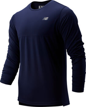 New Balance Accelerate Longsleeve shirt Heren Blauw