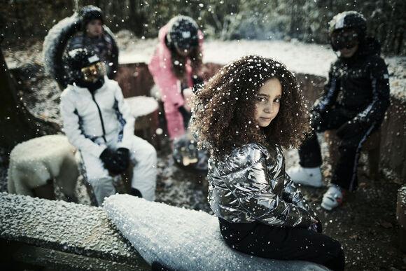 Basic Metalic kids ski-jas