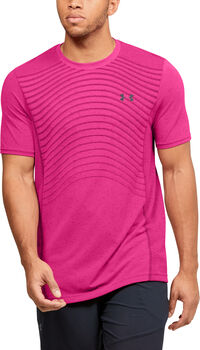 Under Armour Seamless SS Wave shirt Heren Roze