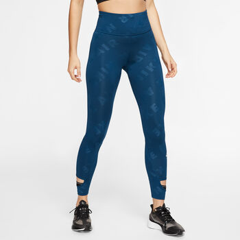 Nike Air 7/8 Running tight Dames Blauw
