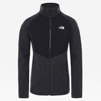 The North Face Arashi Overlay II fleece Dames Zwart