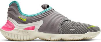 Nike Free Run Flyknit hardloopschoenen Dames Grijs