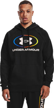 Under Armour Rival Fleece Lockertag hoodie Heren Zwart