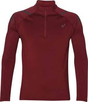 Asics Icon Winter 1/2 Zip longsleeve Heren Rood