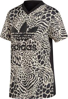 ADIDAS Animal Print shirt Dames Wit