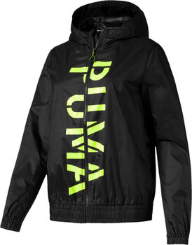 Puma Be Bold Graphic Woven jack Dames Zwart