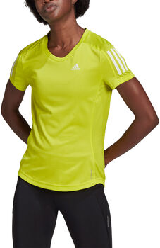 adidas Own the Run T-shirt Dames Geel