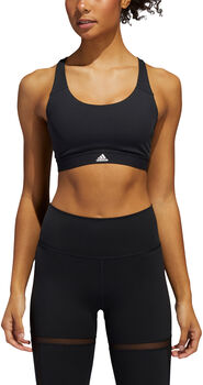 adidas Circuit Medium-Support sport bh Dames Zwart