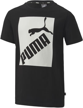 Puma Big Logo kids shirt Jongens Zwart