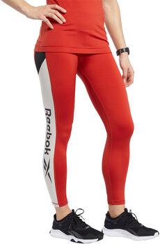Reebok Workout Ready Logo legging Dames Rood