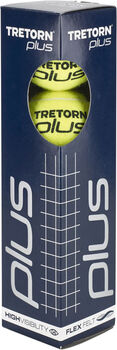 Tretorn Plus 4 Pack tennisballen Geel
