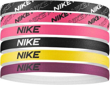 Nike Printed haarbandjes (6 paar) Zwart
