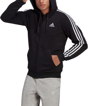 adidas Essentials Fleece 3-Stripes Ritshoodie Heren Zwart
