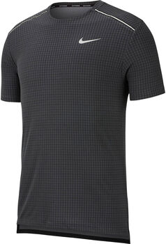 Nike Miler Tech shirt Heren Zwart
