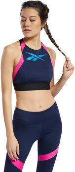 Reebok Workout Ready Low-Impact sportbeha Dames Blauw