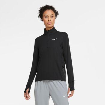 Nike Element 1/2-Zip hardloopshirt Dames Zwart