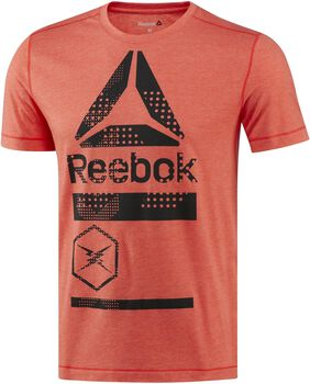 Reebok Speedwick Blend Graphic shirt Heren Rood