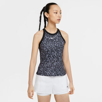 Nike Court Dri-FIT tanktop Dames Zwart