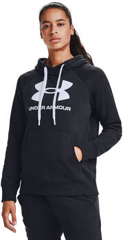 Under Armour Rival Fleece Logo hoodie Dames Zwart